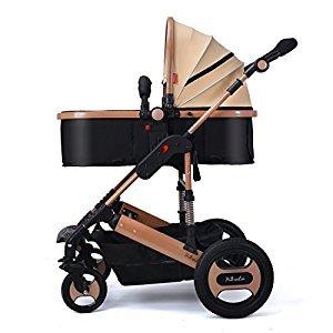 New Lightweight Stroller Children's Stroller Shock Stroller Seat Reclining High Landscape Baby Stroller Fashion Stainless Steel Frame