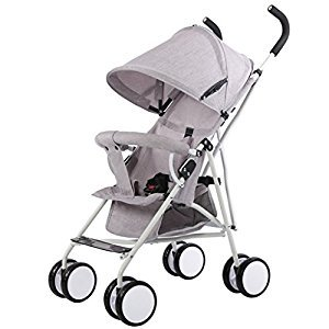 Stroller Lightweight Foldable Portable Trolley Umbrella Baby Buggies, Grey/Pink/Green/Dark Green, 61*35*96cm ( Color : Gray )