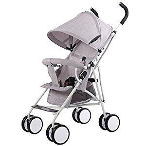 Stroller Lightweight Foldable Portable Trolley Umbrella Baby Buggies, Grey/Pink/Green/Dark Green, 61*35*96cm ( Color : Gray )