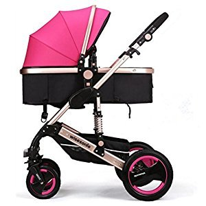 YBL Aluminum alloy high landscape Baby carriage Can sit or lie down City Fashion Preferred Four seasons available Convenient shockproof Suitable for infants 0-3 years old trolley
