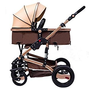 YBL Can be used throughout the year Can sit down and lie down Sleep basket high landscape stroller Four-wheel shockproof explosion-proof tire Suitable for babies aged 0-3 Baby carriage The choice of city