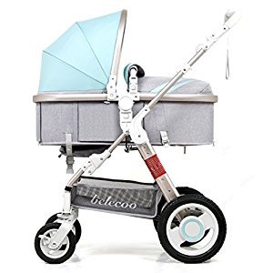 YBL High landscape Four rounds Baby stroller shockproof Two-way implementation Baby carriage Four seasons available The choice of city Suitable for infants aged 0-3 Can sit and lie down