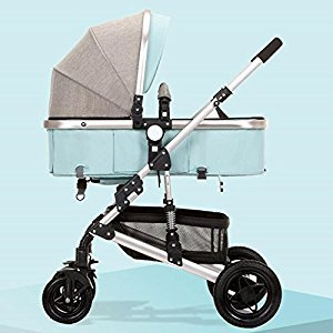 YBL High landscape four-wheel shockproof baby carriage Can sit can be reclined Two-way implementation Four seasons available Lightweight and portable Suitable for 0-3 year old baby stroller trolley