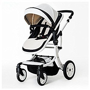 YBL High landscape four-wheel shockproof baby carriage You can sit and lie down Easy to fold Two-way implementation Applies to all seasons Suitable for infants 0-3 years old Baby carriage Newborn baby stroller