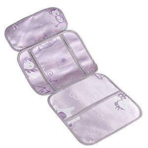 Toddler Summer-use Stroller Liner Infant Pram Seat Liner Purple