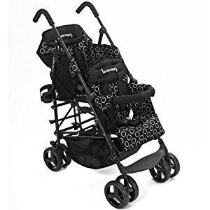 Hop Tandem Umbrella Stroller - Black