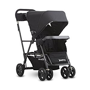 Joovy Caboose Ultralight Graphite Stand-On Tandem Stroller, Black