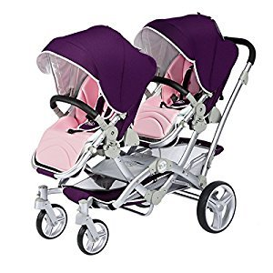 Kids&Koalas tandem stroller,double stroller,high view stroller with dual V frame. (Purple)