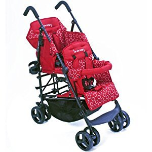 Kinderwagon RED Hop Double Child Stroller w/ Canopy by Kinderwagon