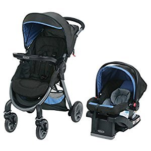 Graco® FastAction™ 2.0 Click Connect™ Travel System with SnugRide Click Connect™ 35 Infant Car Seat – Jaguar