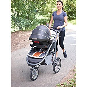 Graco® FastAction™ Fold Jogger Travel System with SnugRide® Click Connect™ 35 Infant Car Seat – Tangerine