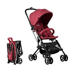 U-kiss Baby Convenience Stroller Lightweight Aluminum Frame (Red)