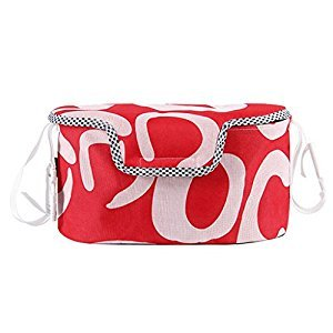 MagiDeal Baby Pram Stroller Pushchair Buggy Storage Bag Organizer Babys Stroller Bag Pouch Safety Storage Accessories - Red full cover