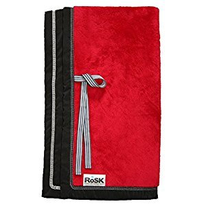 RoSK Woobee Plush Blanket, Ruby/Black