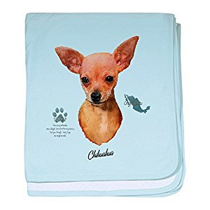 Royal Lion Baby Blanket Chihuahua from Toy Group and Mexico - Sky Blue