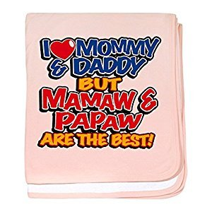 Royal Lion Baby Blanket I Love Mommy Daddy Mamaw Papaw - Petal Pink