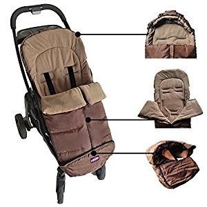Warm Cuddly Weather Resistant Baby Footmuff Extendable Baby Bunting Bag Adaptable for Strollers Joggers Pushchair