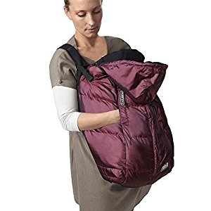 7AM Enfant Pookie Poncho Baby Bunting Bag, Metallic Plum