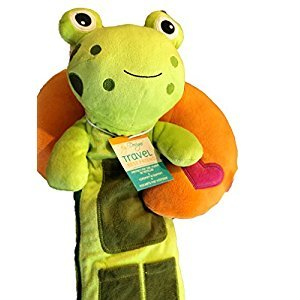 Bundle Kids' Travel Neck Pillow & Green Froggie Seat Belt Cover - 2 Items