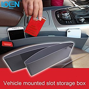 GreenSun(TM) 2Pcs/lot Auto Car Seat Gap Pocket Catcher Organizer Leak-Proof Storage Box Auto Organization Bag Container For VW Ford Nissan
