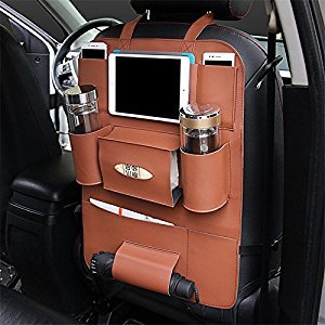 PU Leather Car Backseat Organizer Car seat Hanging Bag, Seat Bag