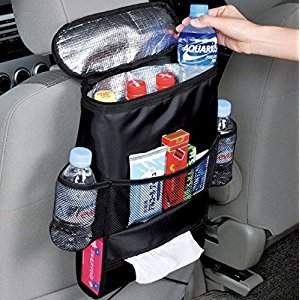 URBeauty Standard Car Seat Back Organizer Multi-Pocket With Side Pockets Waterproof Travel Storage Bag(Heat-Preservation)