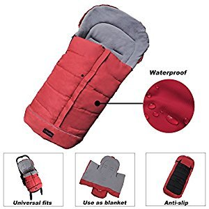 Warm Cuddly Weather Resistant Baby Footmuff Adaptable for Universal Strollers 100% Safe Toddler Footmuff