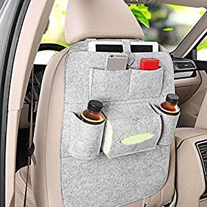 Whitelotous Car Seat Back Storage Bag Nonwovens Multifunctional Holder Pockets