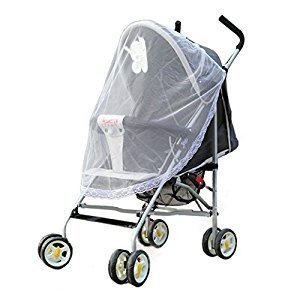 GigaMax(TM) Summer New Arrival Universal Lace Safe Baby Car Carriage Insect Mosquito Net Baby Stroller Cradle Bed Net
