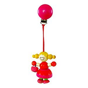Hess Wooden Baby Toy Figurine Chain Eloise Clip On