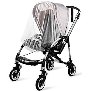KIDLUF Mosquito and Bug Net for Baby Strollers, Bassinets, Cradles and Car Seats - Insect Net Safe Mesh White Buggy Cover for Pushchairs, Prams, and Carrycots