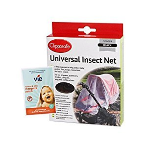 UNIVERSAL INSECT NET BLACK, includes complimentary pack of 12 vie squeeze & stick insect patches