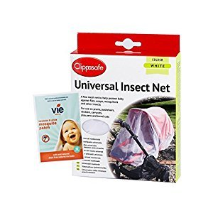 UNIVERSAL INSECT NET WHITE, includes complimentary pack of 12 vie squeeze & stick insect patches
