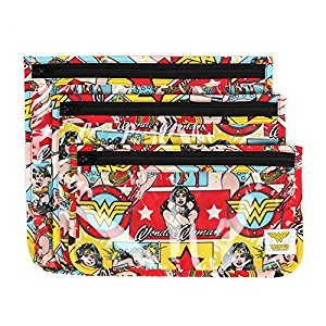Bumkins DC Comics Clear Travel Bag-3 Pack, Wonder Woman