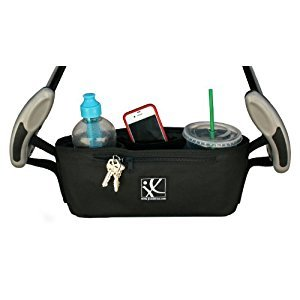 J. L. Childress Cargo 'N Drinks Stroller Parent Tray, Black
