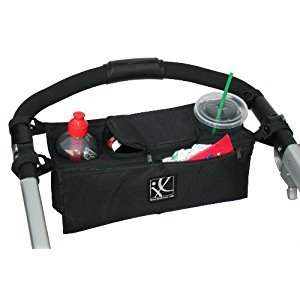 J. L. Childress Sip 'N Safe Stroller Console Tray, Black