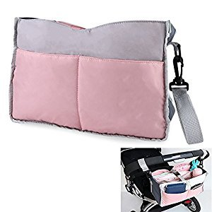 SYOOY Stroller Organizer Pram Caddy with Stroller Hook for Baby Essentials 11.8