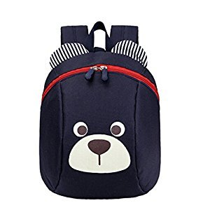 1-5 years old children shoulder small bag and cute cartoon backpack bag.Navy Blu