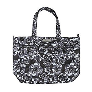 Ju-Ju-Be Onyx Coastal Collection Super Be Zippered Tote Diaper Bag Black Petals