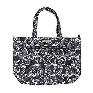 Ju-Ju-Be Onyx Coastal Collection Super Be Zippered Tote Diaper Bag Black Petals