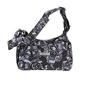 Ju-Ju-Be Onyx Collection HoboBe Purse Diaper Bag, Black Petals