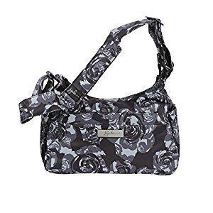 Ju-Ju-Be Onyx Collection HoboBe Purse Diaper Bag, Black Petals