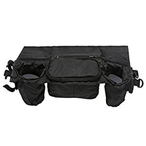 SODIAL(R) Cup Bag Stroller Organizer Baby Carriage Pram Buggy Cart Bottle Bag Stroller Accessories Car Bag (black)36*12*13cm