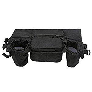 SODIAL(R) Cup Bag Stroller Organizer Baby Carriage Pram Buggy Cart Bottle Bag Stroller Accessories Car Bag (black)36*12*13cm