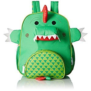 Zoocchini Kids Backpack-Devin The Dinosaur, Green, One Size
