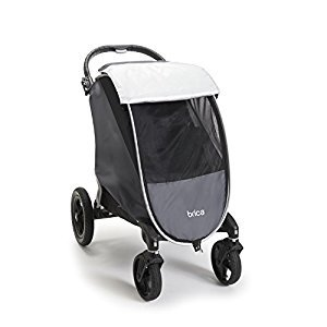 BRICA Shield Stroller Comfort Canopy, Grey-Black