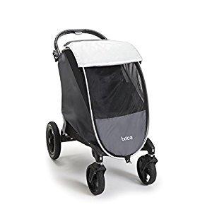 BRICA Shield Stroller Comfort Canopy, Grey-Black