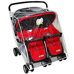 Enerhu Stroller Rain Cover Pushchair Buggy Waterproof Wind Cover Universal Fit