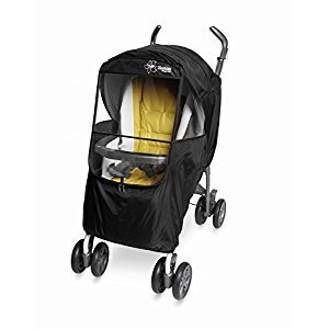 Manito Elegance Plus Stroller Weather Shield/Rain Cover, Black