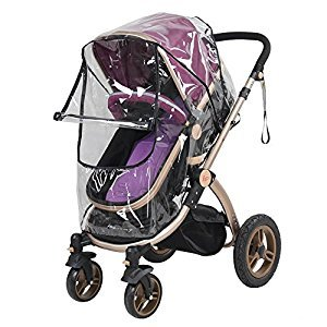 Universal Waterproof Baby Stroller Rain Cover Dust Wind Shield Transparent PVC Pram Accessory